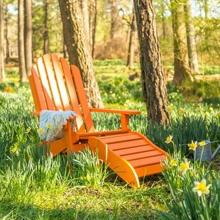Lucasta Adirondack Chair with Ottoman