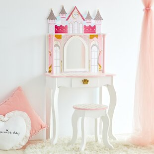 Dreamland Castle Vanity Set with Mirror By Teamson Kids