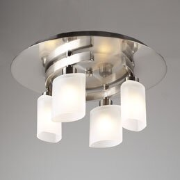 Latitude Run Selzer Semi Flush Mount