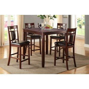 Manny 5 Piece Counter Height Dining Set by A&J Homes Studio
