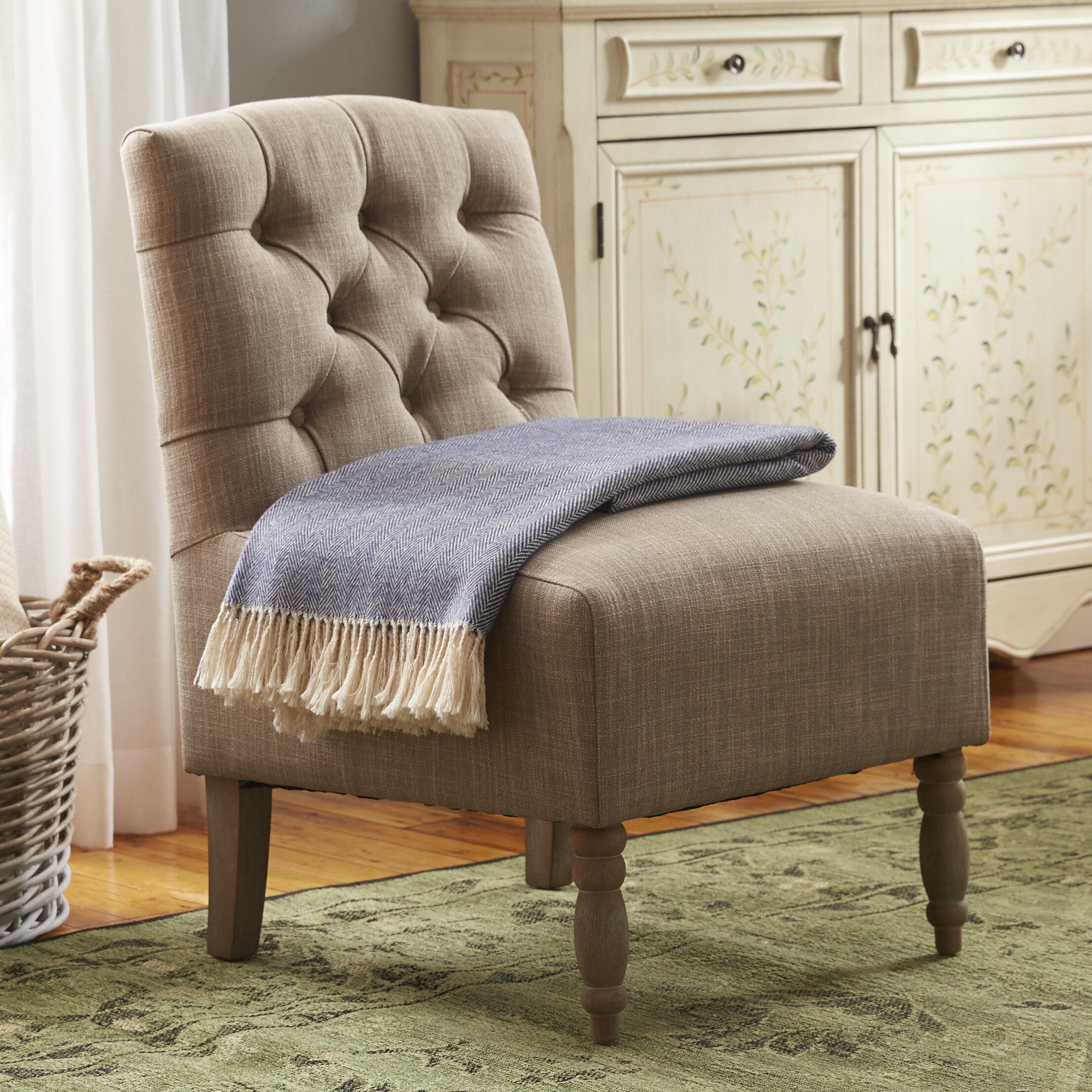 Charlton Home Roland Tufted Slipper Chair U0026 Reviews | Wayfair