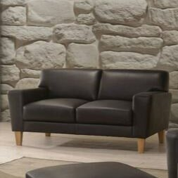 Escaler Leather Loveseat