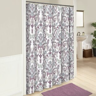 purple and grey shower curtain. Jaziel Cotton Shower Curtain Purple Curtains You ll Love  Wayfair