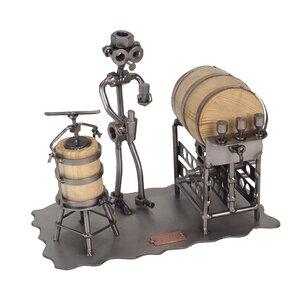 Taster Sculpture 1 Bottle Tabletop Wine Rack by H & K SCULPTURES