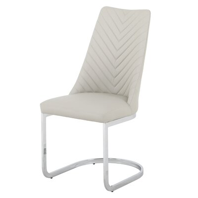 Brayden Studio Rathjen Parsons Upholstered Dining Chair Frame Color: Gray, Upholstery Color: Gray