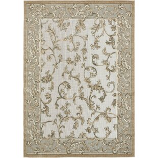 Audubon Beige/Light Brown Indoor/Outdoor Area Rug