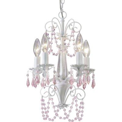 sasha 5light crystal chandelier