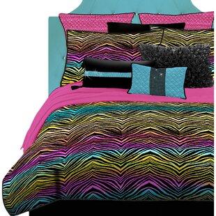 Rainbow Zebra Comforter Set