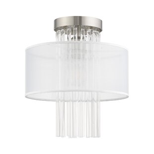 Hanson 1-Light Semi Flush Mount by Mercer41