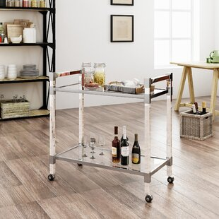 Mercer41 Kolar Modern Glass Bar Cart