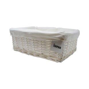 Wicker Laundry Basket By Symple Stuff