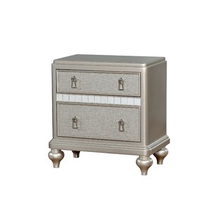 Edel 2 Drawer Nightstand by House of Hampton