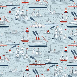 Ships and Sails 15' x 27 Scenic Roll Wallpaper by Loboloup