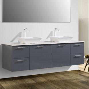 Orrville 72 Wall-Mounted Double Bathroom Vanity Set by Orren Ellis