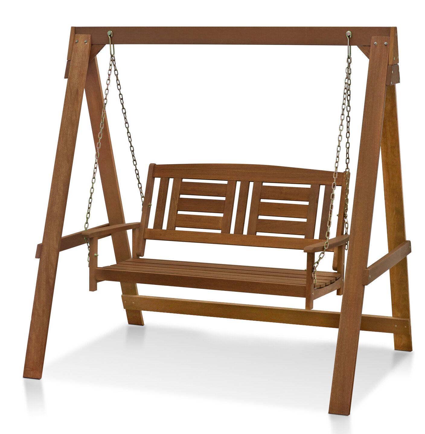 Arianna Hardwood Hanging Porch Swing With Stand Joss Main