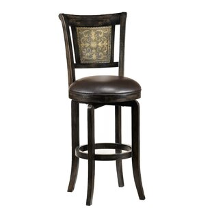 Lilburn 26.5 Swivel Bar Stool Fleur De Lis Living