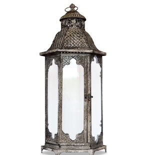 Grand Tour Temple Metal Lantern by World Menagerie