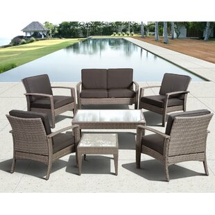 Hazle 7 Piece Sofa Set with Cushions