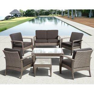 Hazle 7 Piece Sofa Set with Cushions by Beachcrest Home
