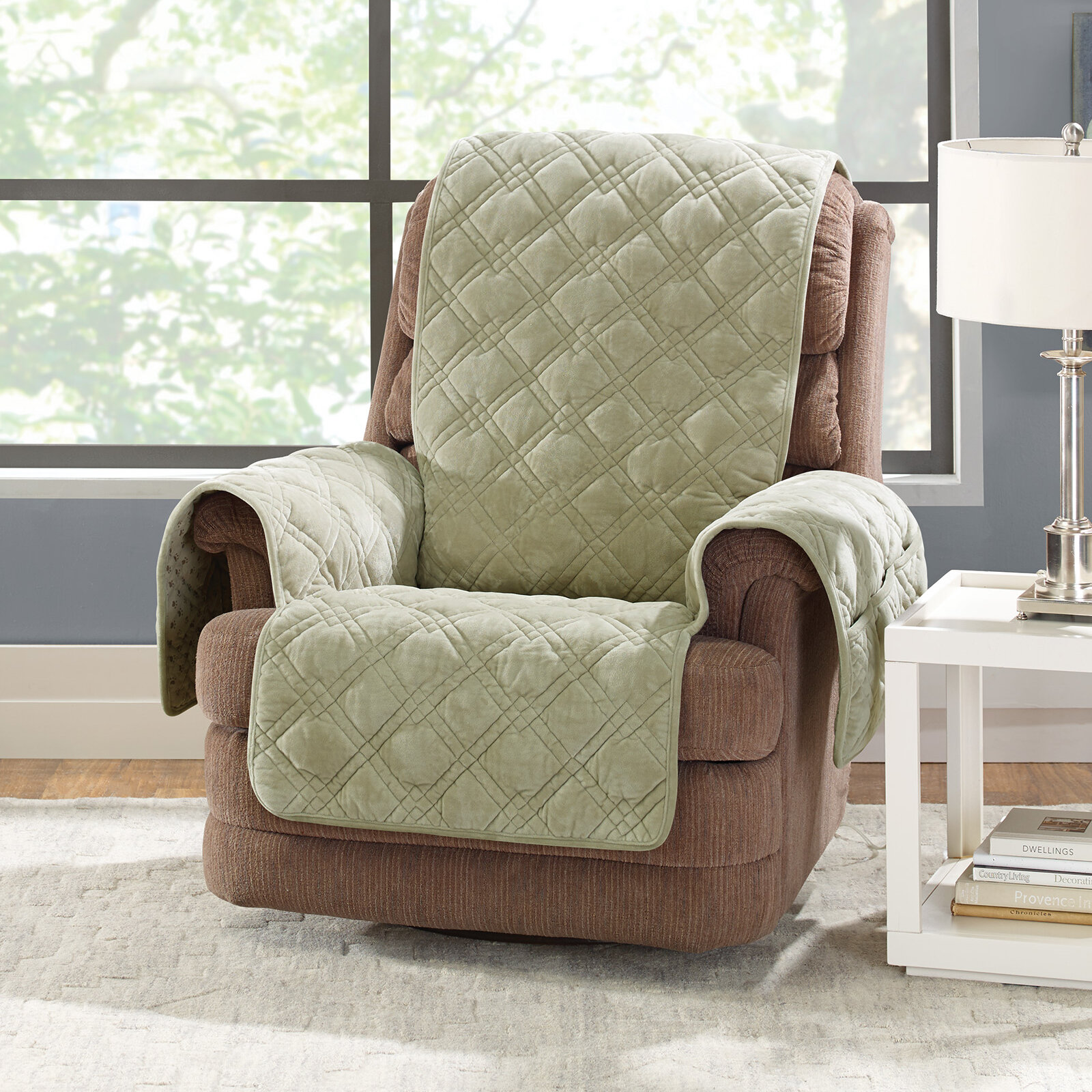 Plush Comfort Recliner Slipcover. By Sure Fit
