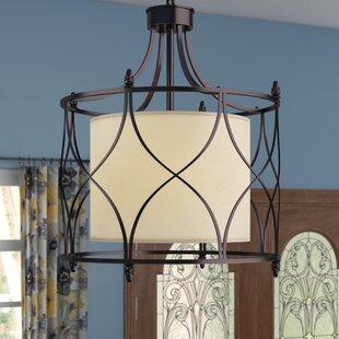 Franck Wrought Iron 3-Light Lantern Pendant by Winston Porter