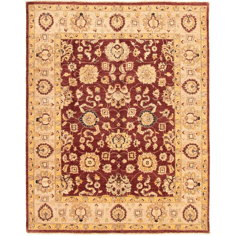 Isabelline One Of A Kind Lache Hand Knotted 2010s Chobi Beige Brown 8 1 X 9 10 Wool Area Rug Wayfair