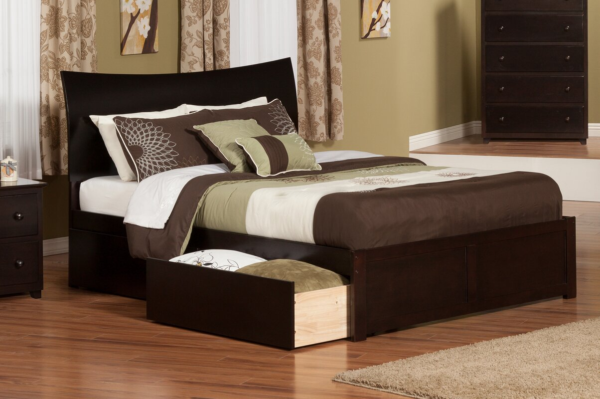 atlantic furniture soho king storage platform bed  reviews  wayfair - defaultname