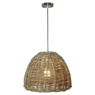 Mickie Rattan 1-Light Inverted Pendant by Highland Dunes