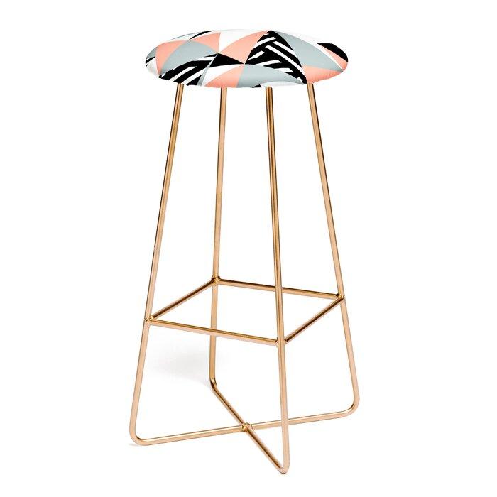 Admirable The Old Art Studio Modern Geometric Peach 30 Bar Stool Creativecarmelina Interior Chair Design Creativecarmelinacom