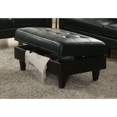 Surprising Rives Storage Ottoman Charlton Home Upholstery Black Caraccident5 Cool Chair Designs And Ideas Caraccident5Info
