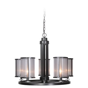 Elmer 5-Light Shaded Chandelier by Charlt..