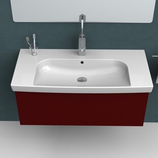 CeraStyle by Nameeks Roma Ceramic Rectangular Drop-In Bathroom Sink with Overflow