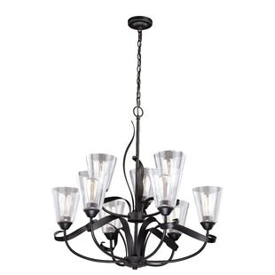 Gracie Oaks Zermeno 9-Light Shaded Chandelier