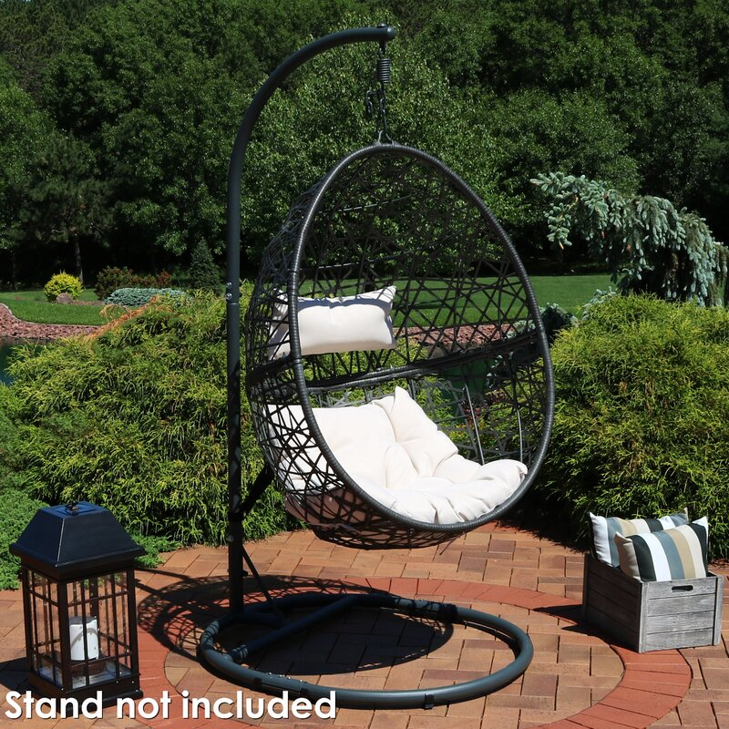 Mid Century Rattan Chair, Brayden Studio Abernathy Hanging Egg Swing Chair Reviews Wayfair