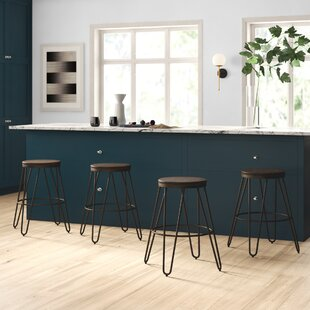 Online Reviews LaGuardia Modern 24 Bar Stool (Set of 4) by Mercury Row Reviews (2019) & Buyer's Guide