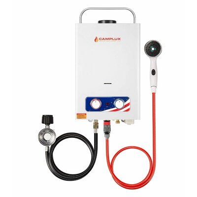 Pro Series 6L Outdoor Portable 1.58 GPM Liquid Propane Tankless Water Heater Camplux