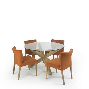 Caserta Dining Set With 4 Chairs By Ebern Designs