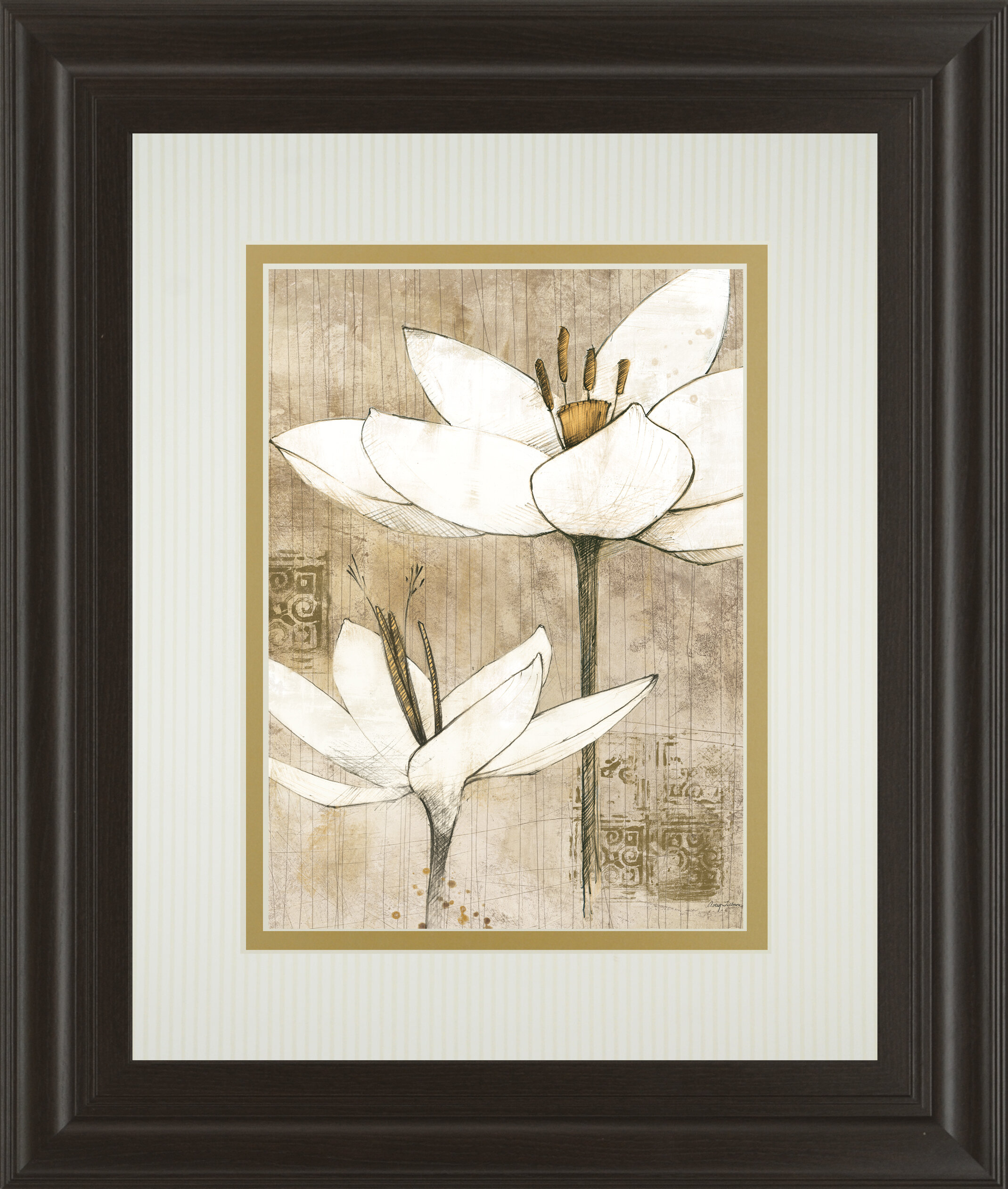 Classyartwholesalers Pencil Floral I By Avery Tillman Framed Painting Print Wayfair