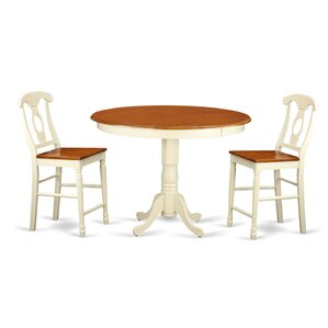 Trenton 3 Piece Counter Height Pub Table Set by East West Furniture