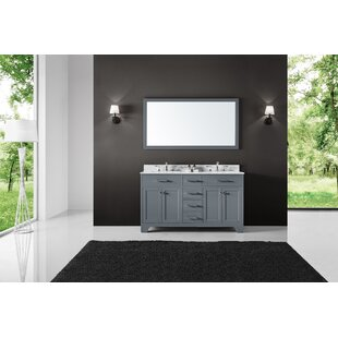 Cassel 60 Double Bathroom Vanity Set with Mirror By Highland Dunes