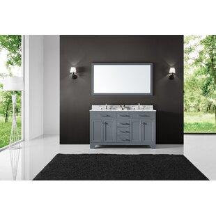 Cassel 72 Double Bathroom Vanity Set with Mirror