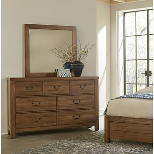 Erving 7 Drawer Double Dresser with Mirror by Darby Home Co