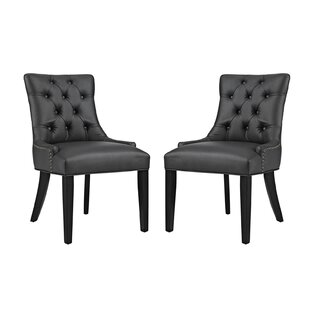 Looking for Burnett Vinyl Dining Side Chair (Set of 2) By Rosdorf Park