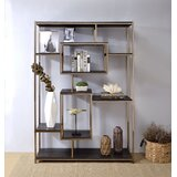 Mathews Metal Etagere Bookcase by Everly Quinn