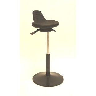 Height Adjustable Sit Stand with Round Metal Base