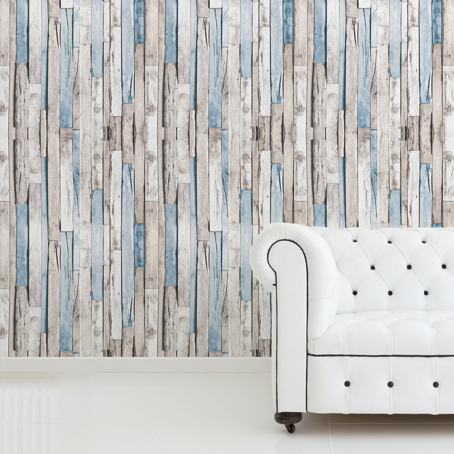 Millwood Pines Embarcadero Bleaching Timber 70 9 L X 47 3 W Peel And Stick Wallpaper Tile Reviews Wayfair
