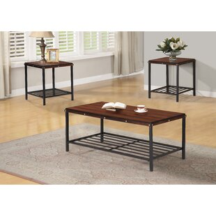Williston Forge Sebring 3 Piece Coffee Table Set