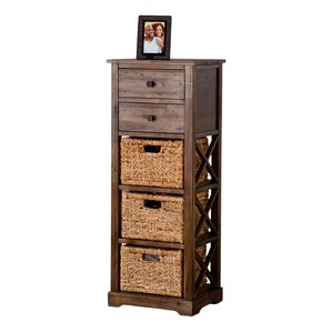 Mayfair 2 Drawer Storage Chest 3 Basket Storage Tower