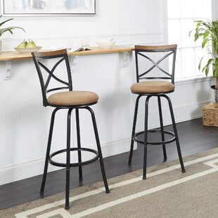 Shop For Spokane Adjustable Height Swivel Bar Stool (Set of 2) by Fleur De Lis Living Reviews (2019) & Buyer's Guide