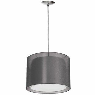 Wrought Studio Felts 1-Light LED Drum Pendant